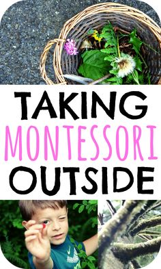 Learn ideas behind Montessori outdoor activities. This post includes thoughts on connecting indoor and outdoor Montessori classrooms! via @marniecraycroft