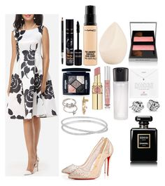 """""""Engagement Bethany 💑💏💍"""" by tody-3 ❤ liked on Polyvore featuring WithChic, Christian Dior, Bourjois, MAC Cosmetics, Burberry, Yves Saint Laurent, Victoria's Secret, Dogeared, Blue Nile and Forever 21"""