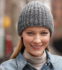 Keep warm this winter with this simple crocheted hat!