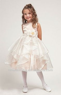 Vestido niña organza