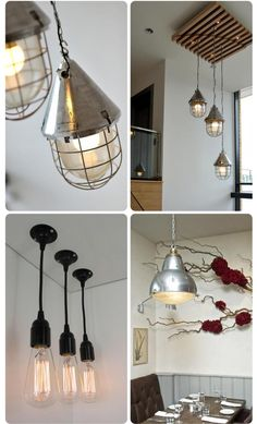 Industrial light for the home.