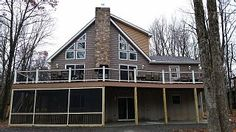 Luxury In The Poconos Vacation Rental in Albrightsville from Ideal Home, Family Travel, Cabin, Vacation, House Styles, Luxury, House Rentals, Houses, Prom