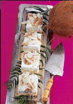 QimiQ Recipe Database Recipe Database, Eat Smarter, Paleo, Yummy Food, Recipes, Pineapple Jam, Sheet Cakes, Coconut Flakes, Coconut