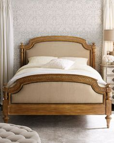 -00XU   Tuscany Panel Bed, King Tuscany Armoire Tuscany Nightstand