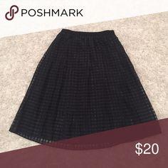 MIDI length black pleated Elle skirt Black midi length skirt from Elle Elle Skirts Midi