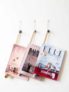 DIY Stylish Magazine Hanger. Learn how to create an easy display for your favourite magazines. Perfect budget-friendly gift idea.