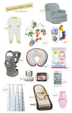 Favorite Baby Gear 0-3 Months | Hellobee.com