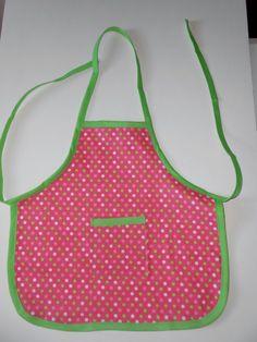 30% off use code BLFRIDAY30OFF Polka Dot toddler apron by beckyspillowshop Girls toddler apron #cybermondaysale details at https://etsy.com/shop/beckyspillowshop
