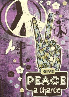 Give #PEACE a chance! #grunge #art