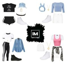 1MILLION DANCE STUDIO #25 by kariina-sykes on Polyvore featuring moda, UNIF, Chicnova Fashion, Topshop, Fendi, adidas, River Island, Vans, Converse and Sydney Evan