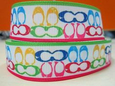3 yards printed grosgrain ribbon 7/8 inch by Sparklehairbows2013, $3.20