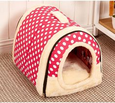 Multifuctional Warm Fleece Soft Removable Dog House Nest with Mat Foldable Pet Dog Cat Bed House for Small Medium and Large Dogs ** Click image to review more details. (This is an affiliate link) #Doggies