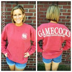 Representing for my home state, South Carolina. Gamecocks Comfort Color Spirit Jersey - Miss Cocky Gamecock Nation, Gamecocks Football, University Of South Carolina, South Carolina Gamecocks, Carolina Football, College Football Season, Spirit Jersey, Preppy, My Style