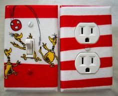 Dr. Seuss Light Switch Cover and Outlet Cover Sneetches Children Decor Switchplate
