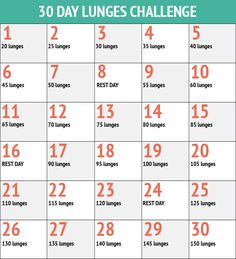 30+day+lunge+challenge This would be a good challenge once I've gotten into better shape... 150 lunges... wow