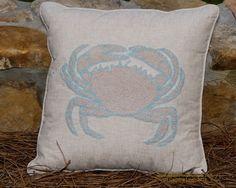 Coastal Living Crab Pillow