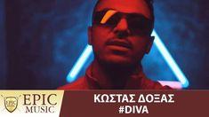 Κώστας Δόξας - Diva - Official Music Video Greek Music, Music Charts, Diva, Songs, Movies, Movie Posters, Films, Film Poster, Divas