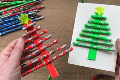 Newspaper Christmas Tree Ornaments DIY - Gorgeous little Straw Christmas Tree Ornaments and Straw Christmas Tree Cards. The best bit? The diy Paper Straws are made from Newspaper - thrifty and good for the environment!! #Newspapers #straws #paperstraws #christmastree #ornaments #cards #cardmaking