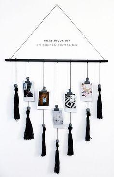 DIY Tassel and Photo Wall Hanging