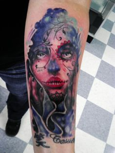 day of the dead tattoo by tattoosbyjon on DeviantArt