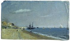 Brighton Beach, with Colliers, John Constable, 1824