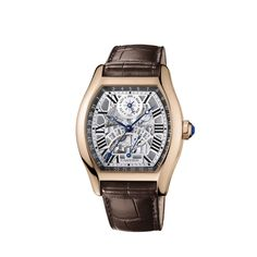 Tortue perpetual calendar watch - Automatic, pink gold - Cartier