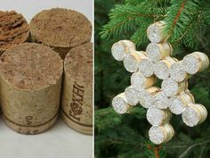 What are you saving all those old wine corks for? Get them out of your utensil drawer and onto the tree with this snowflake-shaped ornament.Get the tutorial here. Courtesy of blogger - Redbook.com