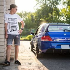 We had an awesome photoshoot with Kany and his dope Evo. Kany's rocking our Bring Back Evo t-shirt - check it in our shop Bring Back, Bring It On, Rally Car, Jdm Cars, Modern Classic, Must Haves, Evolution, Fan Shirts, Photoshoot