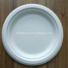 100% biodegradable dinner plates wholesale 7  round plate & 3-Compartment Disposable Tableware Dishes Bagasse Paper Plate 10 ...