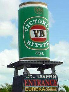 The Big VB. Darwin, Australia