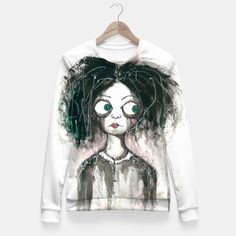Staring Eyes 2 Fitted Waist Sweater by ArtByJonas 49.95€