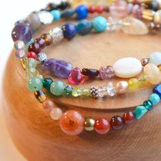 Rainbow bracelet Multicolored bracelet Stacking by AlaskaDaisy