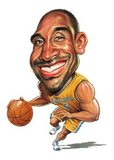 Kobe Bryant Art Print featuring the painting Kobe Bryant by Art Bryant Bryant Black Mamba Bryant Cartoon Bryant nba Bryant Quotes Bryant Shoes Bryant Wallpapers Bryant Wife Funny Caricatures, Celebrity Caricatures, Kobe Bryant, Caricature Drawing, Drawing Faces, Basketball Art, Basketball Drawings, Black Mamba, Sports Art