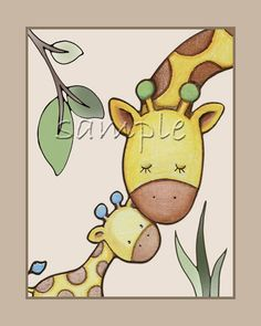 Ideas baby room jungle elephant nursery for 2019 Giraffe Drawing, Baby Animal Drawings, Giraffe Painting, Giraffe Art, Baby Painting, Art Drawings For Kids, Drawing For Kids, Painting For Kids, Easy Drawings