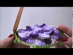 Passo a passo Flor Helena crochê- Professora Simone - YouTube