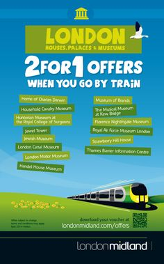 2for1 offers in London when you go by train