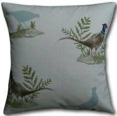 Cushion Covers made in Clarke & Clarke Pheasant Bird Green Fabric Pillows Country Cushions, Animal Cushions, Green Cushions, Cushion Covers Uk, Clarke And Clarke Fabric, Green Fabric, Pheasant, Traditional House, Home Decor