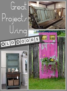 I love repurposing old junk and turning trash into treasure. Recently I came across a photo of an old door that had been revamped and turned into something awesome. Turns out, there's lots of thing...