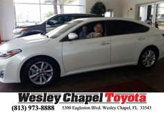 Happy Anniversary to Cindy on your #Toyota #Avalon from Andy Ghelfi at Wesley Chapel Toyota!  https://deliverymaxx.com/DealerReviews.aspx?DealerCode=NHPF  #Anniversary #WesleyChapelToyota