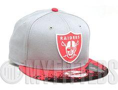 Oakland Raiders Infrared Black Strapback Cap by NEW ERA x NFL