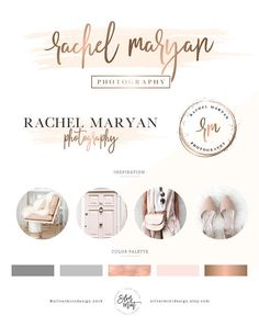 Logo design/ photography logo/ branding package/ branding kit/ premade wedding logo/ custom business logo design/ watercolor feminine logo