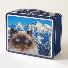 Himalayan Cat Metal Lunch Box - decor gifts diy home & living cyo giftidea