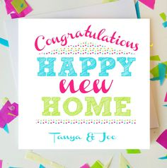PERSONALISED Handmade Congratulations On Your New Home Card