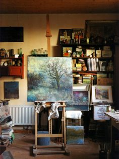 Working studio thisivyhouse:  Artist's area