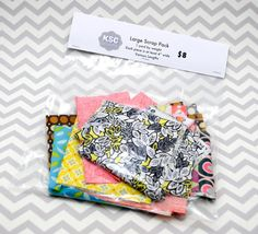 Large Designer Fabric Scraps  1 yard by weight  Amy by KSCSupply, $8.00