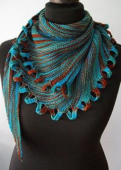Knitted Scarf Patterns With Variegated Yarn : 1000+ images about Patterns for Variegated Yarns on Pinterest Pattern libra...