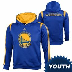 Golden State Warriors adidas Youth On-Court Hoody - Royal