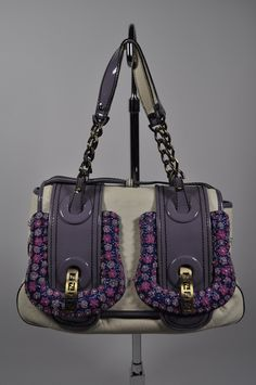 FENDI Limited Edition White Leather Ricami Floral Bag – Crave Luxury Consignment