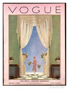 Vogue Cover - August 1928 Poster Print by Pierre Brissaud at the Condé Nast Collection