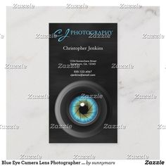 Shop Blue Eye Camera Lens Photographer Photography Business Card created by sunnymars. Photography Business Cards, Camera Lens, Things To Come, Eyes, How To Make, Prints, Blue, Cat Eyes